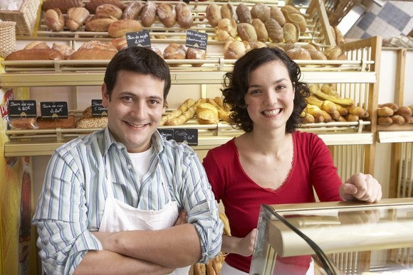 Getty Self Employed Bakery Couple