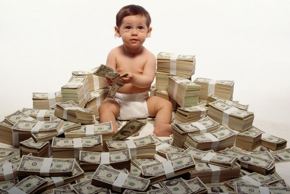 Getty Rich Kid Baby On Money