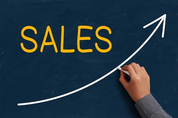 Sales Growth Blackboard Simple Getty