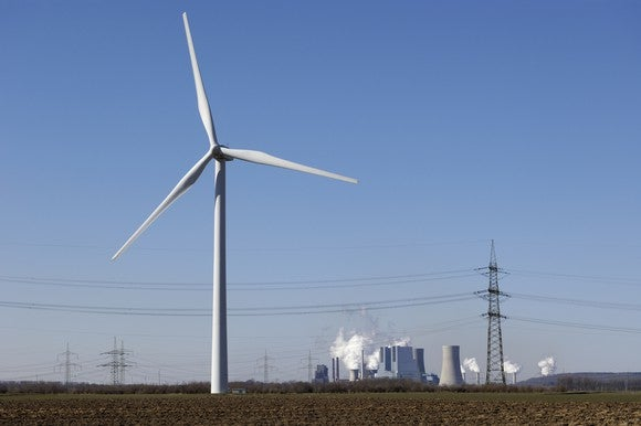 Wind And Coal Power Plant