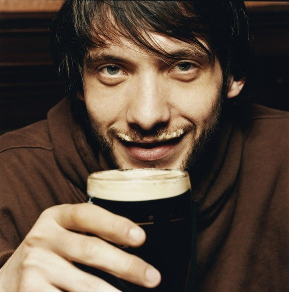 Beer Craft Foam Mustache Pint Dark Stout Froth Male Drink Alcohol Getty