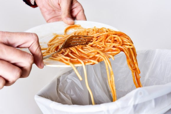 Throwing Out Leftover Food