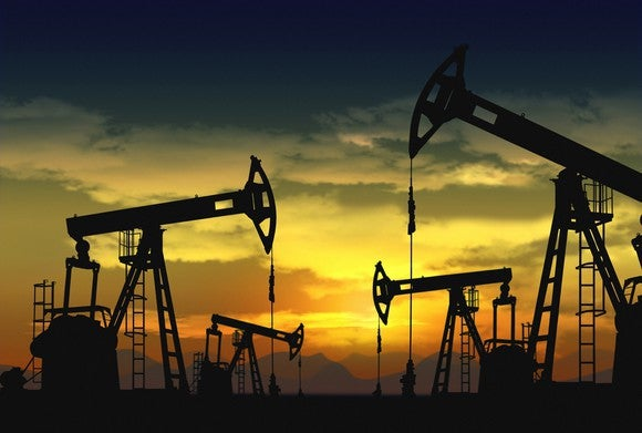 Oil Drilling Multiple Pump Jacks Getty