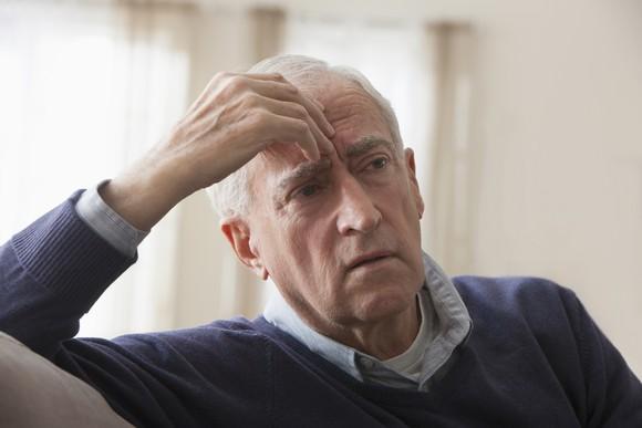 Senior Man Worried About Future Getty