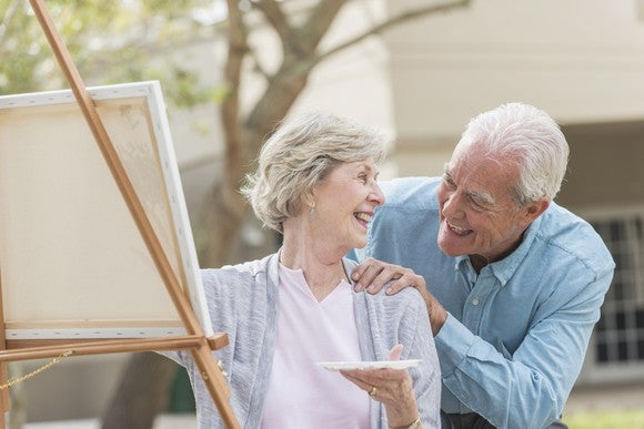 Retired Couple Painting