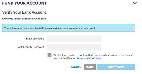 Bank Account Login Question