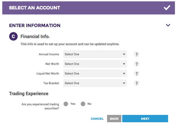 Open Tradeking Account