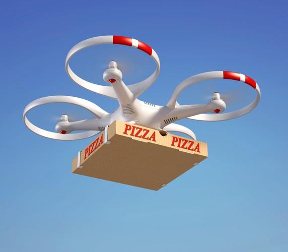 Drone Pizza Delivery Getty