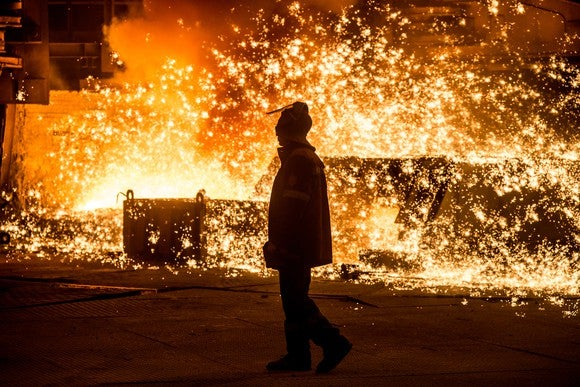 Iron Ore Steel Smelter Mining Getty