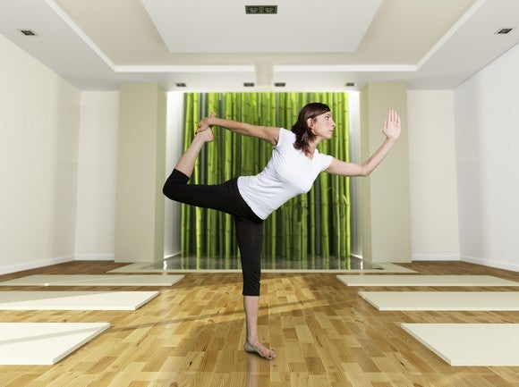 Yoga Balance Wood Floor