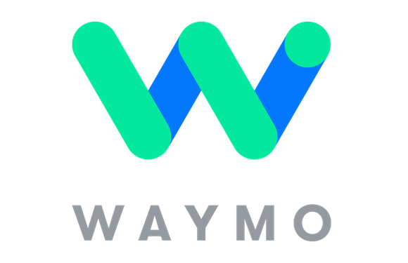 Waymo logo that's a big W and says Waymo under the W.