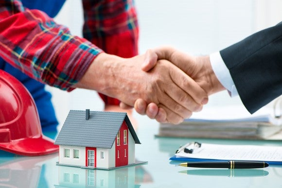 Mortgage Loan Home Financingownership Networking Handshake Getty