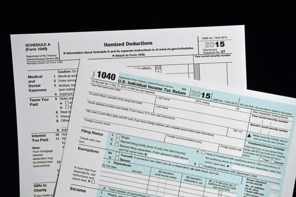 Itemized Tax Form