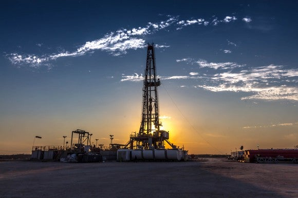 Drilling Rig Sunset
