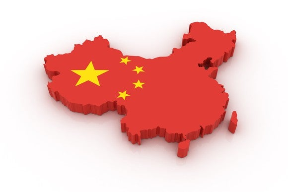 Chinese Flag Country Map