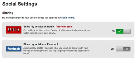 Netflix Social Sharing