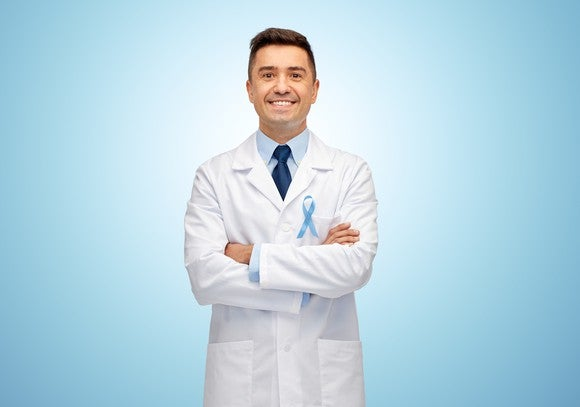 Prostate Cancer Ribbon Doctor Drug Approval Clinical Trial Getty