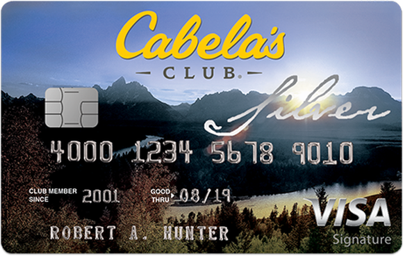 Cabela's credit card from its World's Foremost Bank