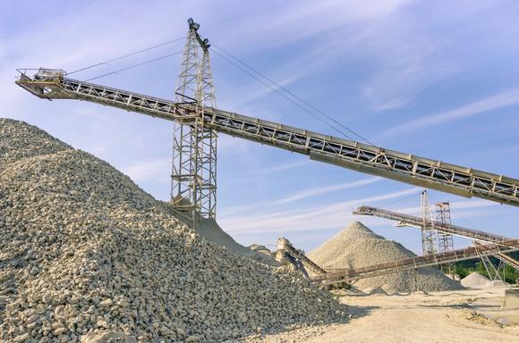 A stone quarry.