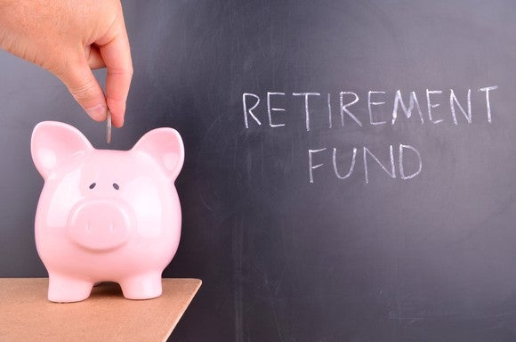 Image of piggy bank to depict retirement savings