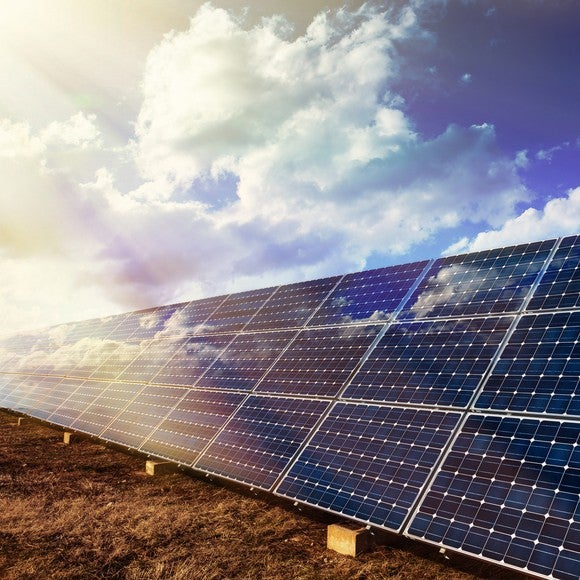 A solar panel array.