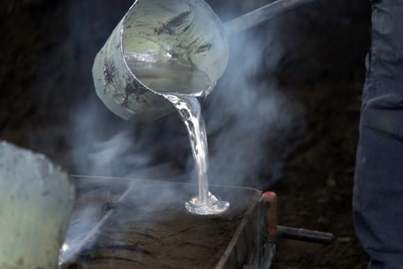 Aluminum casting image.