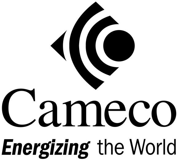 Cameco's corporate logo with slogan.