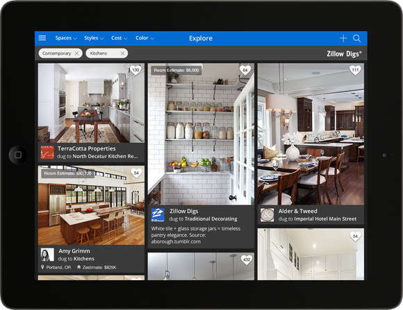 Screenshot of Zillow iPad app.
