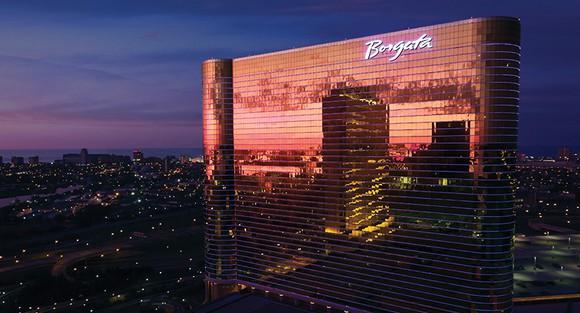 MGM Resort's Borgata resort and casino in Atlantic City at night