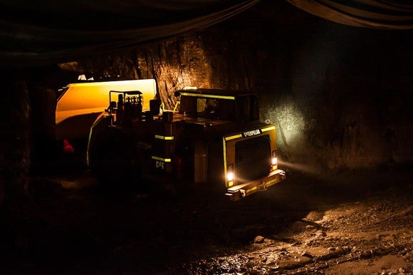 Underground at Richmond Mines Island Gold Mine project
