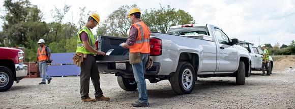 2017 Chevy Silverado 1500 at worksite