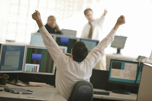 Super happy stock owner