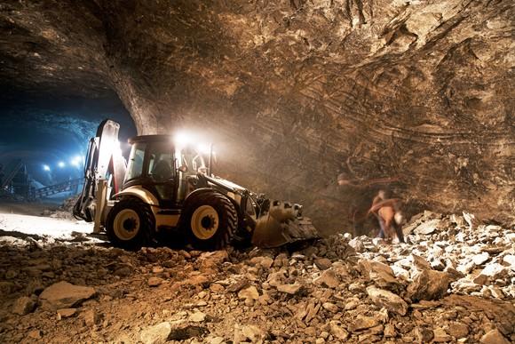 Underground mining activity.