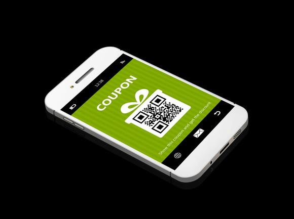 Digital coupon on smartphone