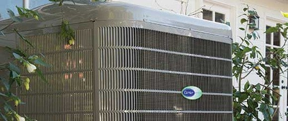 a Carrier air conditioning unit. Carrier is part of United Technologies's climate, controls & security segment