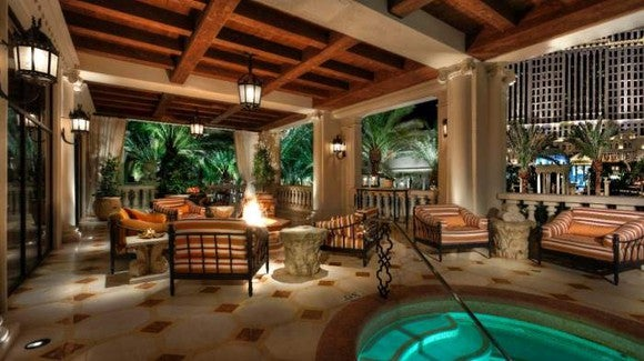 A private spa inside the Titus Villa in Las Vegas.