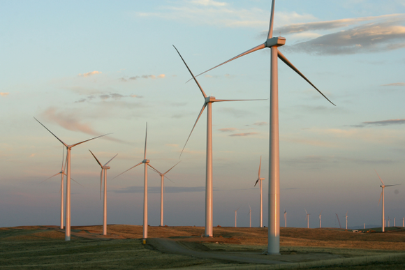 Wind turbines owned by Berkshire Hathaway's utility subsidiary.