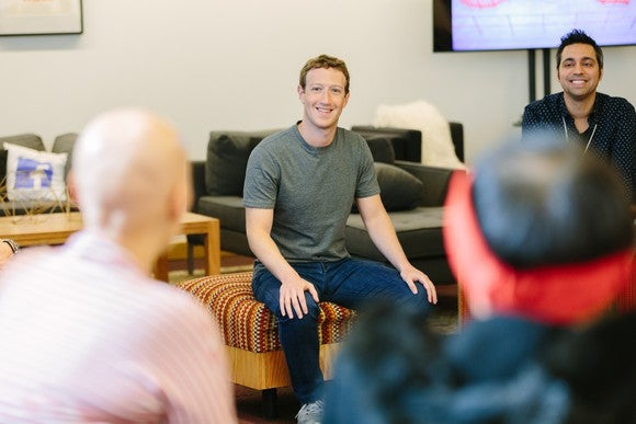 Zuckerberg meeting with guests