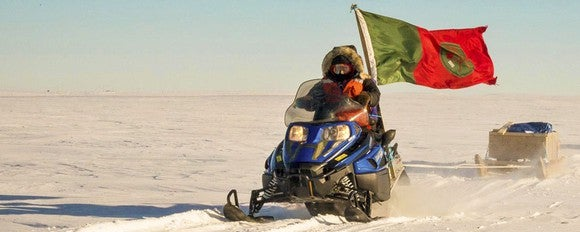 Canadian Army snowmobile on patrol.