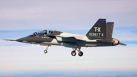 Boeing T-X trainer prototype jet.