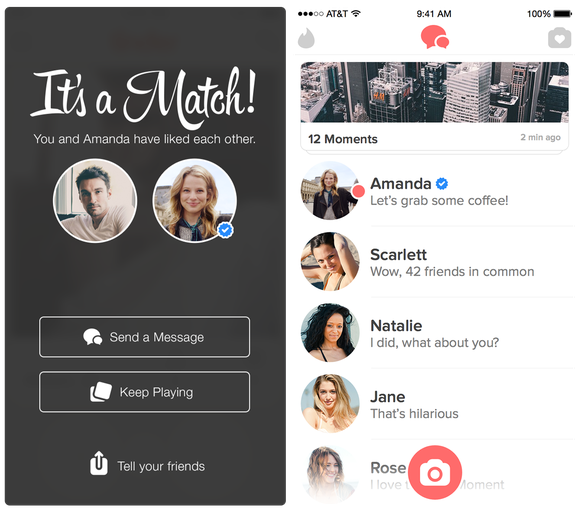 "A feature of the Tinder app that now allows users to become ""verified""."