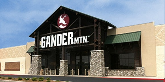 The storefront of sporting goods retailer Gander Mountain