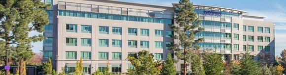 A view of a Synopsys building.