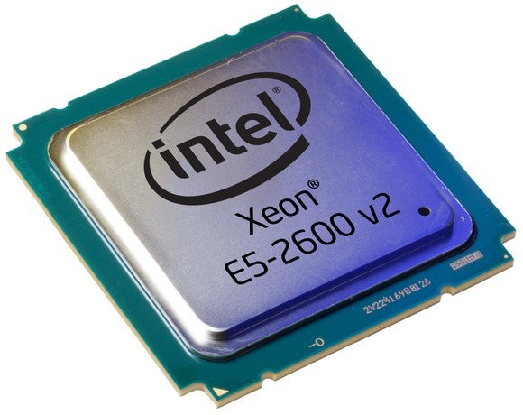 An Intel server processor, known by its code name Ivy Town and its brand name Xeon E5-2600 v2.