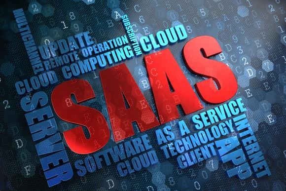 """Work cloud featuring """"SAAS""""."""