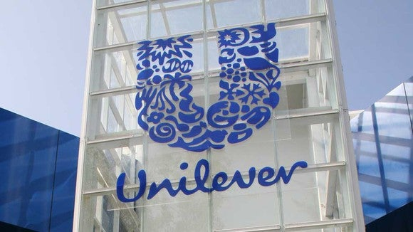 Sign with Unilever logo