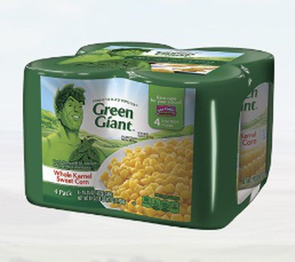 Green Giant brand cans of corn.