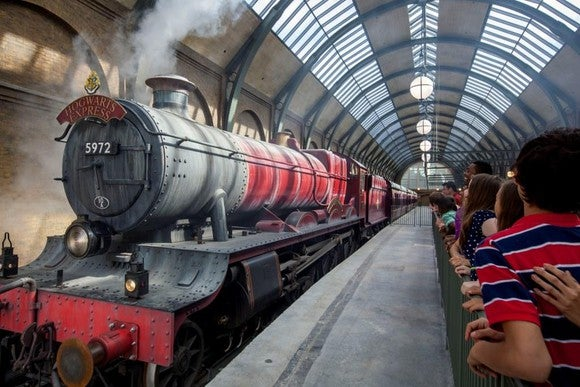 The Hogwart's Express at Universal Studios.