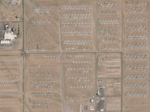 Satellite image of Davis-Monthan AFB