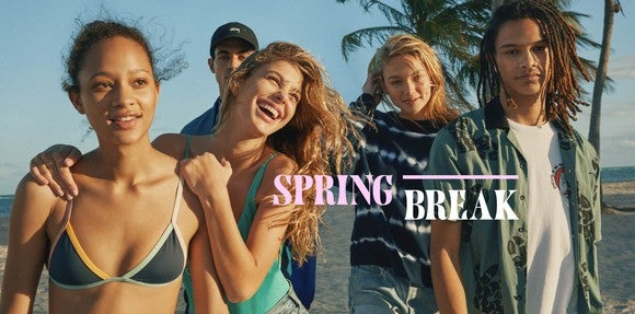 An Urban Outfitters ad depicting spring break fashions.